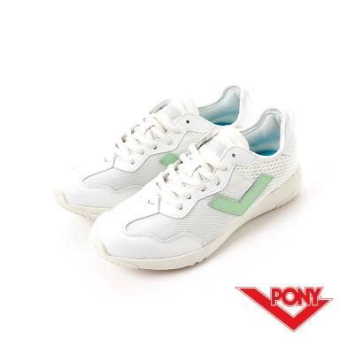 【PONY】SOHO+系列-輕甜休閒鞋-女性-白