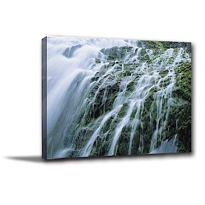 美學365-單聯式橫幅 掛畫無框畫 愜意瀑布 40x30cm