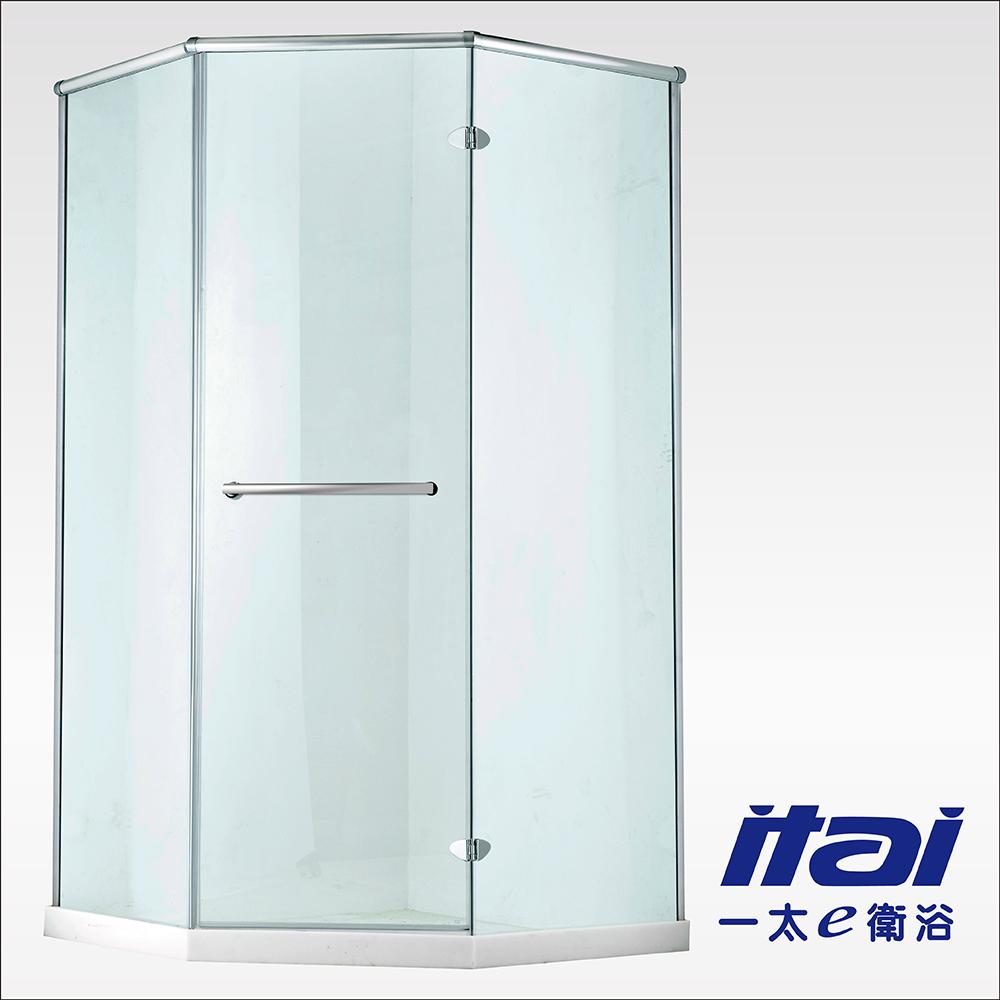 一太淋浴門-無框五角字型防爆淋浴門(寬180~200cm x 高200cm範圍以內)