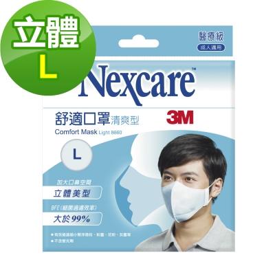3M Nexcare 舒適口罩 輕爽型 拋棄式 5片包(L)