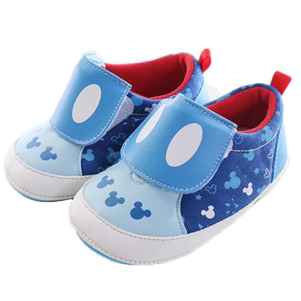 迪士尼米奇魔鬼貼止滑寶寶鞋 藍 sk0105 魔法Baby
