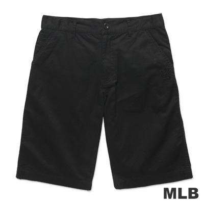 MLB-紐約洋基隊LOGO休閒水洗短褲-黑(男)