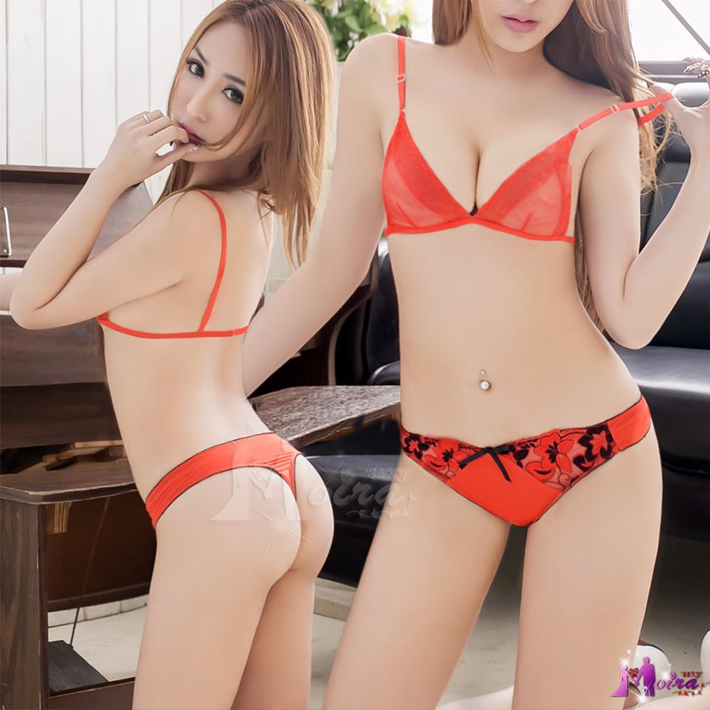 丁字褲 野豔性感寬版丁字褲(紅) Moira