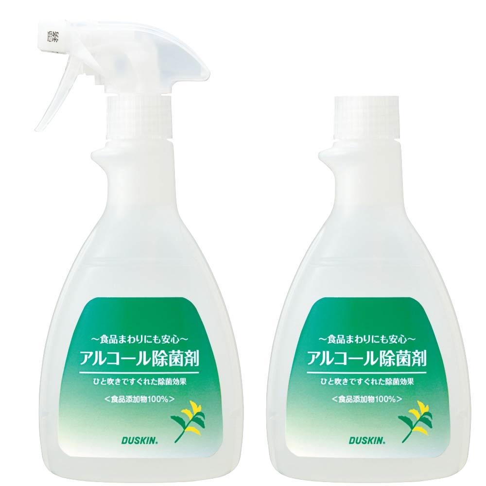 日本DUSKIN 酒精除菌劑 (2補充瓶+1噴頭)