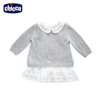 chicco天鵝公主荷葉裙針織洋裝(12個月-18個月)