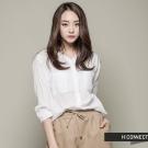 H:CONNECT 韓國品牌 女裝 - 素面亨利V領襯衫 - 白(快)