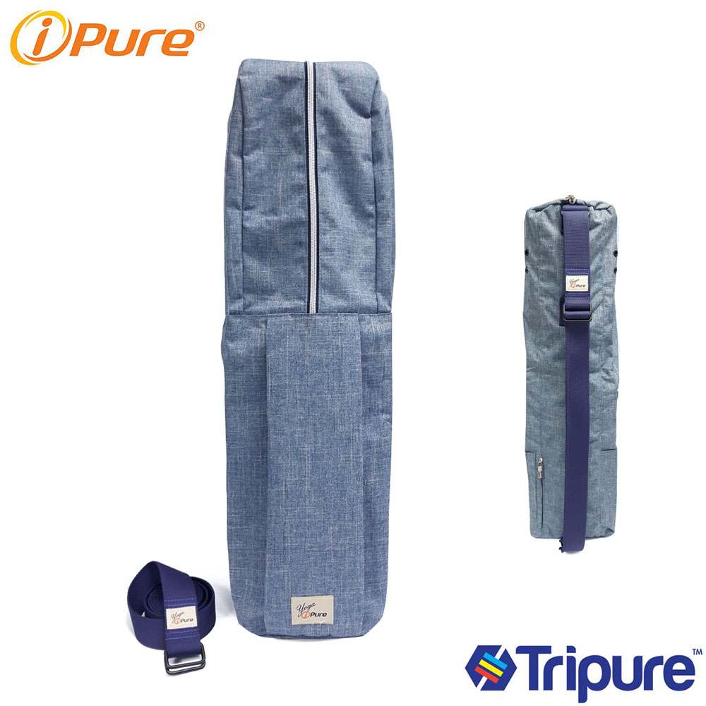 Yoga i-pure 肩帶可拆式瑜珈背袋-單寧色