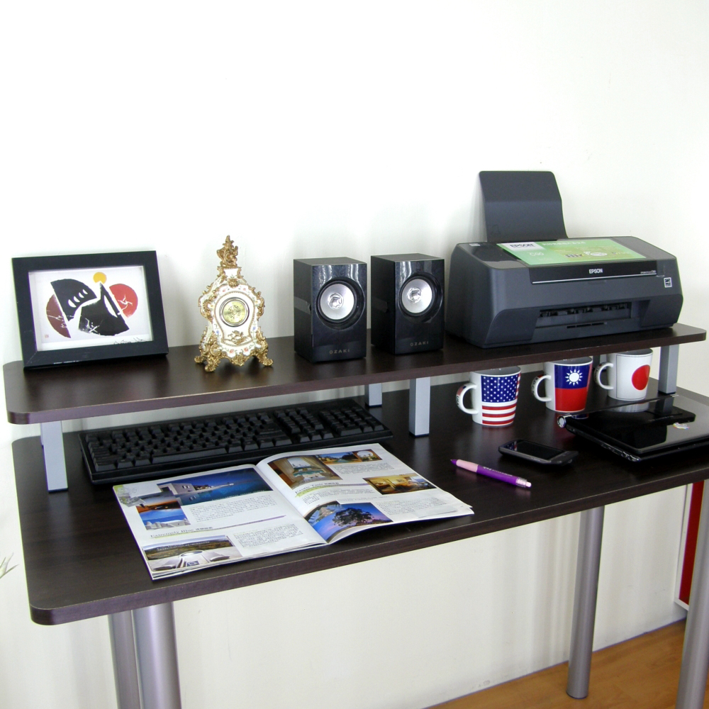 頂堅桌上型置物架(深30×寬120x高12.5cm/二色)