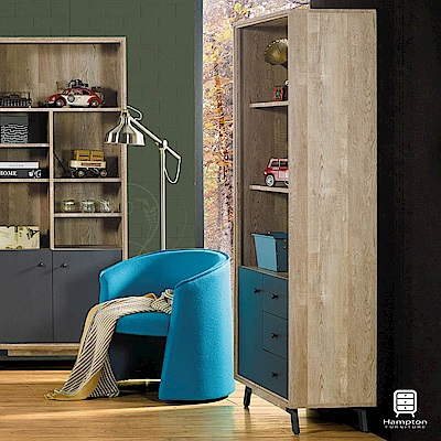 漢妮Hampton艾爾賓系列工業風三抽書櫃-81x30x181cm