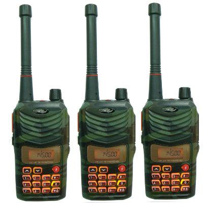 MTS 110V/410U高功率 美歐軍規無線電對講機(迷彩3入)