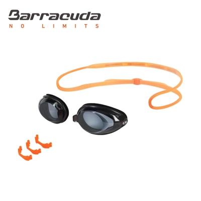 美國巴洛酷達Barracuda成人近視泳鏡-橘色頭帶#2195