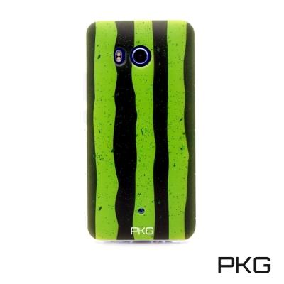 PKG HTC U11彩繪空壓氣囊保護殼-浮雕彩繪-西瓜手機殼