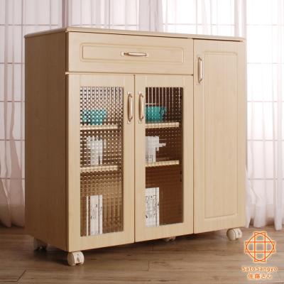 Sato-PURE三宅單抽三門食器棚活動收納櫃-幅88cm