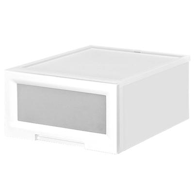 【創意達人】白玉視窗抽屜整理箱(43L)3入