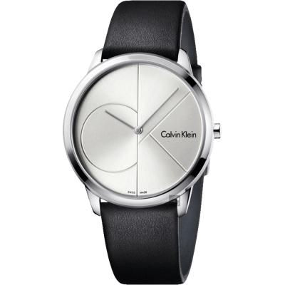 Calvin Klein CK Minimal經典大LOGO男錶-40mm