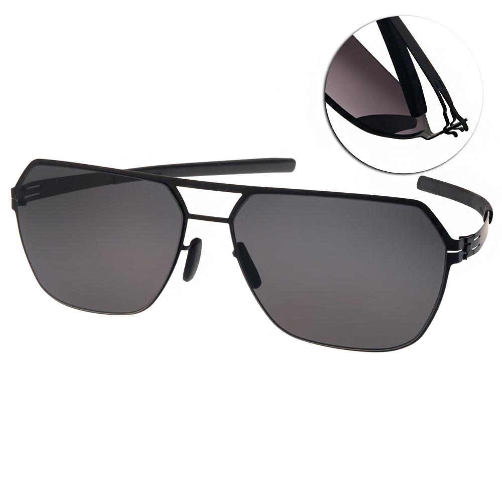 ic!berlin太陽眼鏡 薄鋼代表作/黑#BORIS N BLACK
