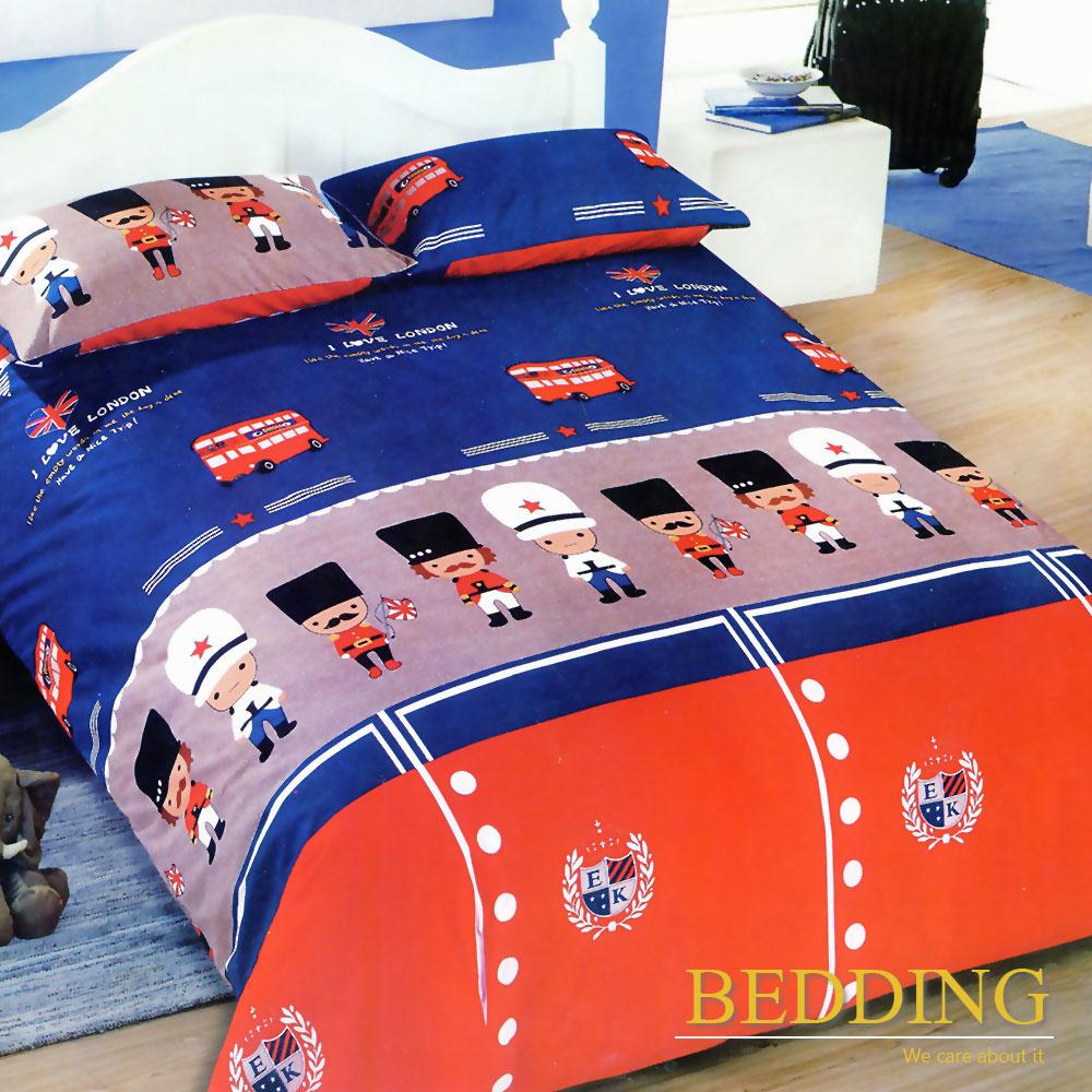 BEDDING  活性印染 雙人床包涼被組 皇家士兵