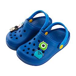 迪士尼童鞋 TsumTsum 米奇怪獸 輕量防水涼鞋-藍