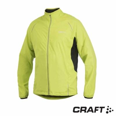 【瑞典 Craft】男款  ACTIVE RUN 反光防風防潑跑步外套_綠