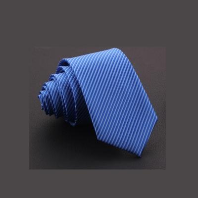 拉福  斜紋7cm中寬版領帶拉鍊領帶  藍色
