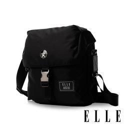 ELLE HOMME 精湛優雅紳士風範 可置物iPad極致高質感直式掀蓋休閒側背包