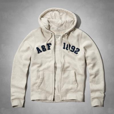 AF a&f Abercrombie & Fitch 長袖 連帽外套 白色 287