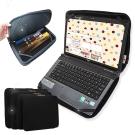 庫貝兒 都市極簡風 筆電平板2用雙開拉鍊防震內袋 收納包皮套 14吋