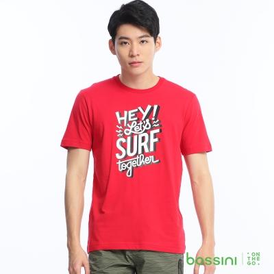 bossini男裝-印花短袖T恤57紅