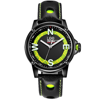 Lee  玩色方向感時尚腕錶-LES-M14DBL1-13/40mm