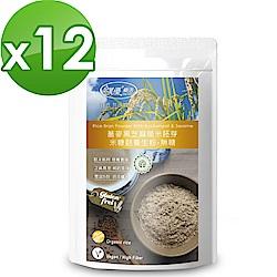 樸優樂活 蕎麥黑芝麻糙米胚芽米糠麩醇香養生粉-無糖(400gx12包)
