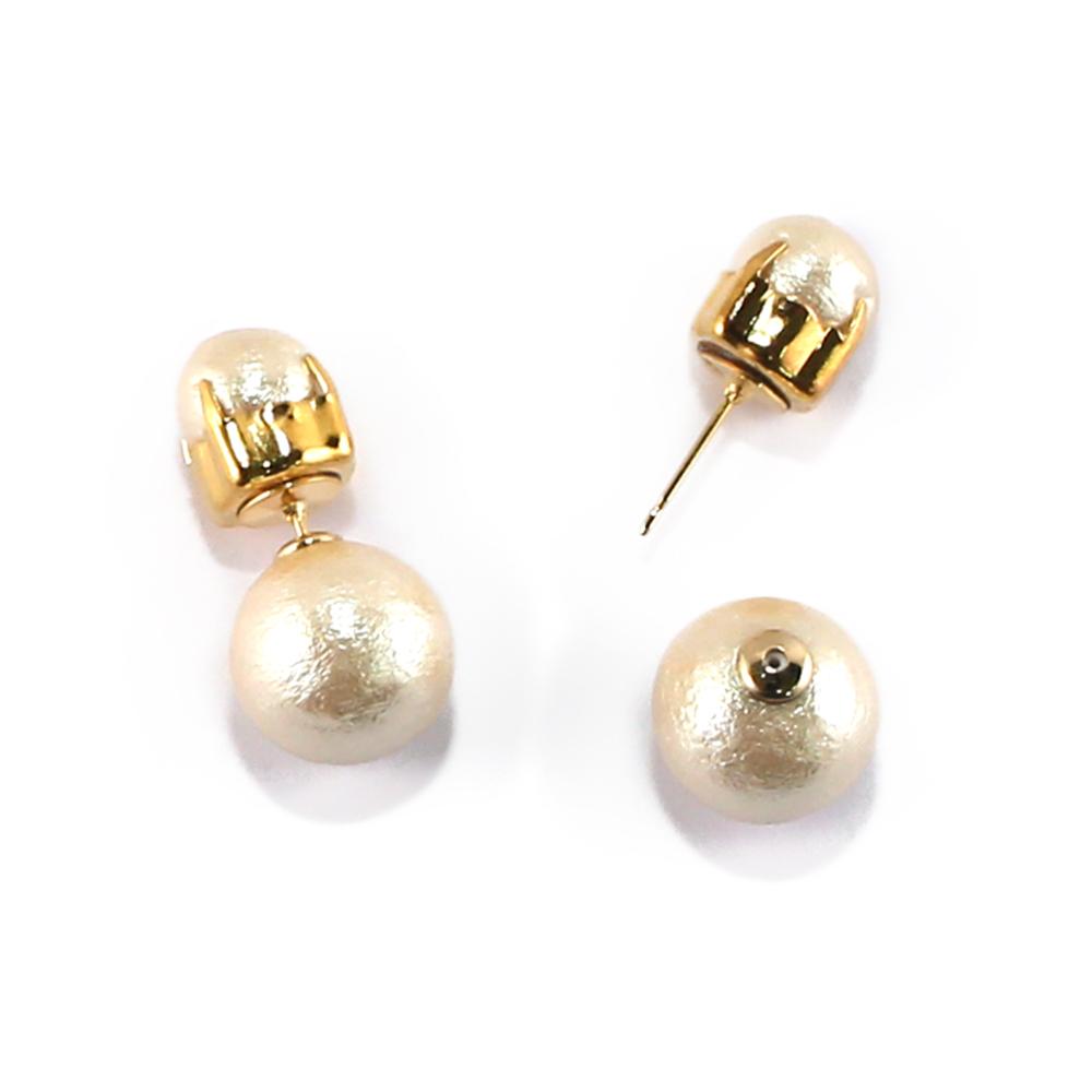 CARUTINA 百搭棉珍珠耳環(針式/夾式) @ Y!購物