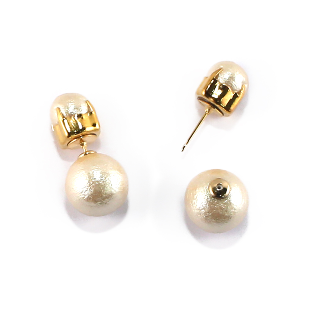 CARUTINA 百搭棉珍珠耳環(針式/夾式)