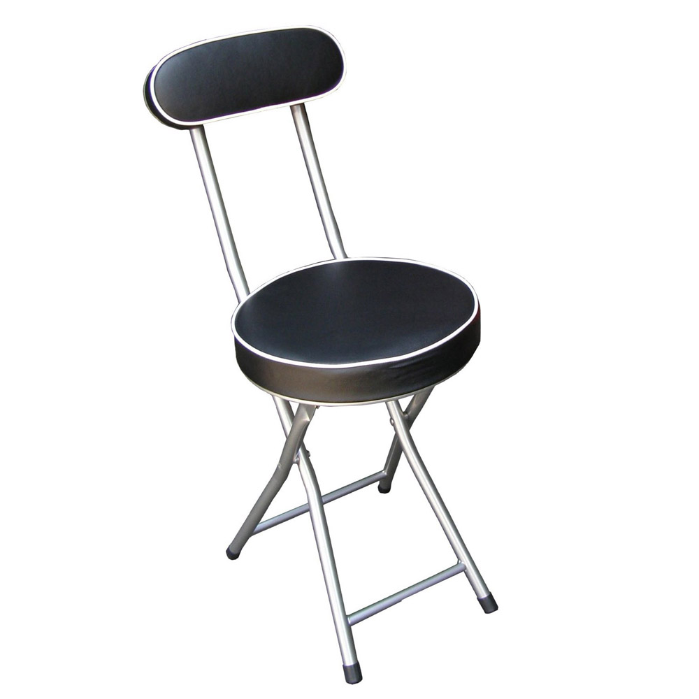 頂堅 沙發椅座高背折疊椅-1入(黑色/紅色)