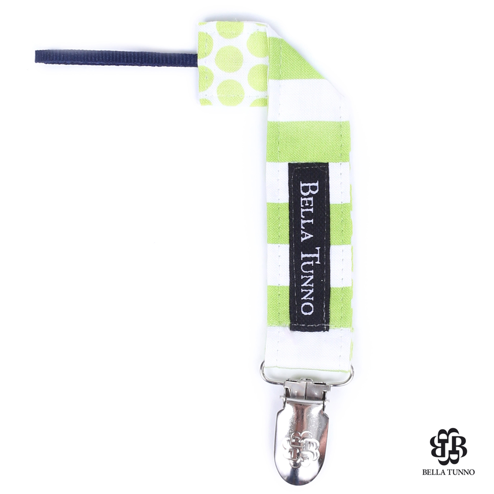 美國 Bella Tunno 奶嘴小物夾 (綠點條紋 FL932)