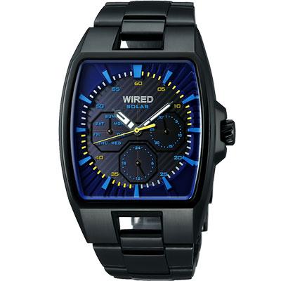 WIRED-HYBRID日雜時尚腕錶-AUB027X1-IP黑-37x38mm