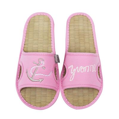 Yvonne-Collection海錨貼繡拖鞋-粉