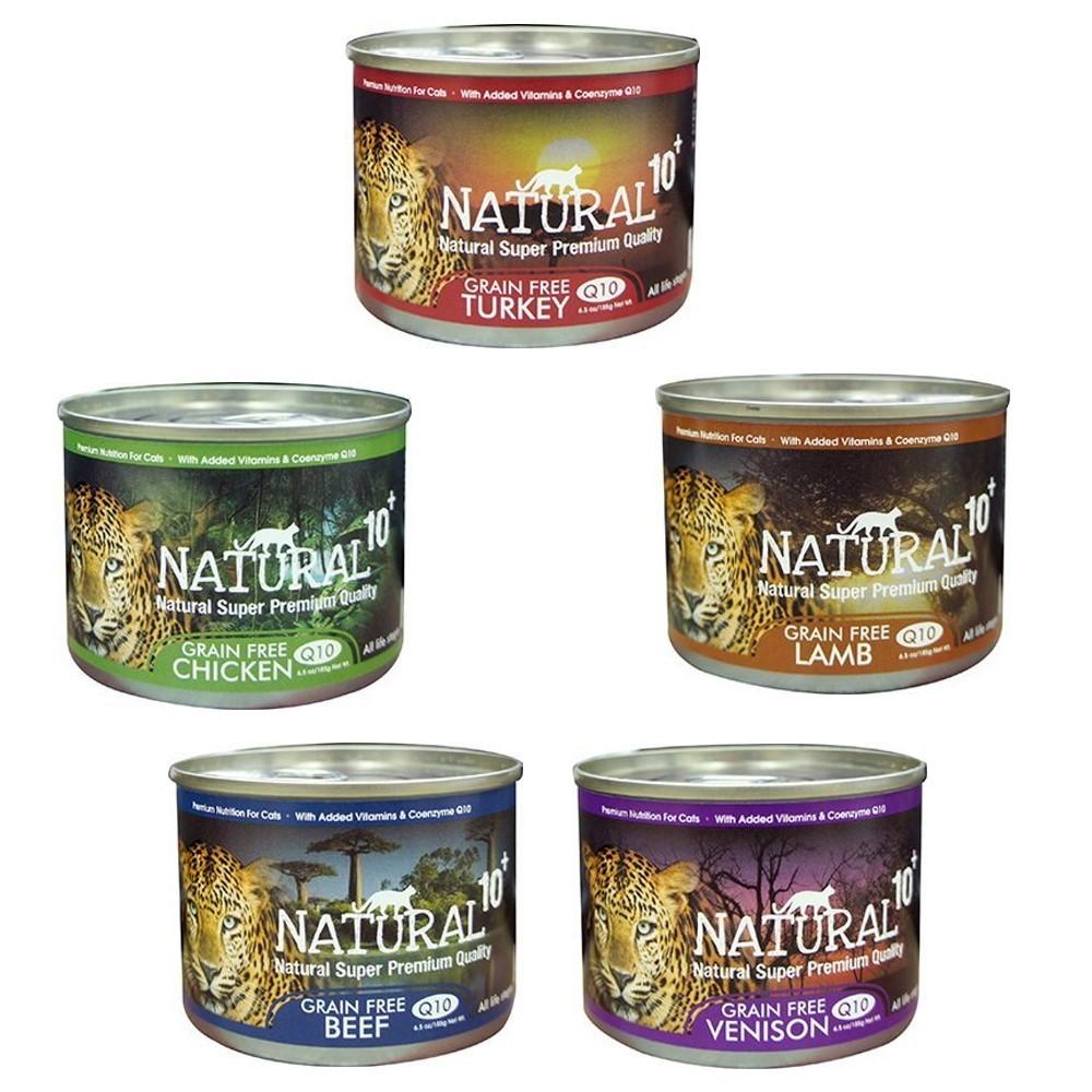 紐西蘭NATURAL10+《原野無穀機能主食罐》185g 24罐