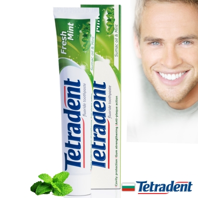 歐洲原裝Tetradent薄荷清新牙膏75ml