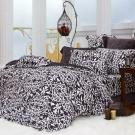 義大利La Belle《蒂芙妮亞》雙人四件式雪芙絨被套舖棉床包組