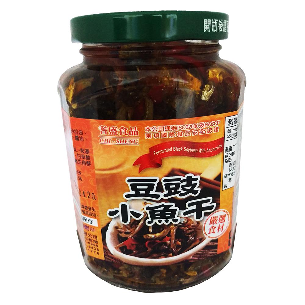 耆盛 豆豉小魚干(370g)