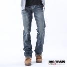 BIG TRAIN 鍾馗小直筒褲-男-中藍