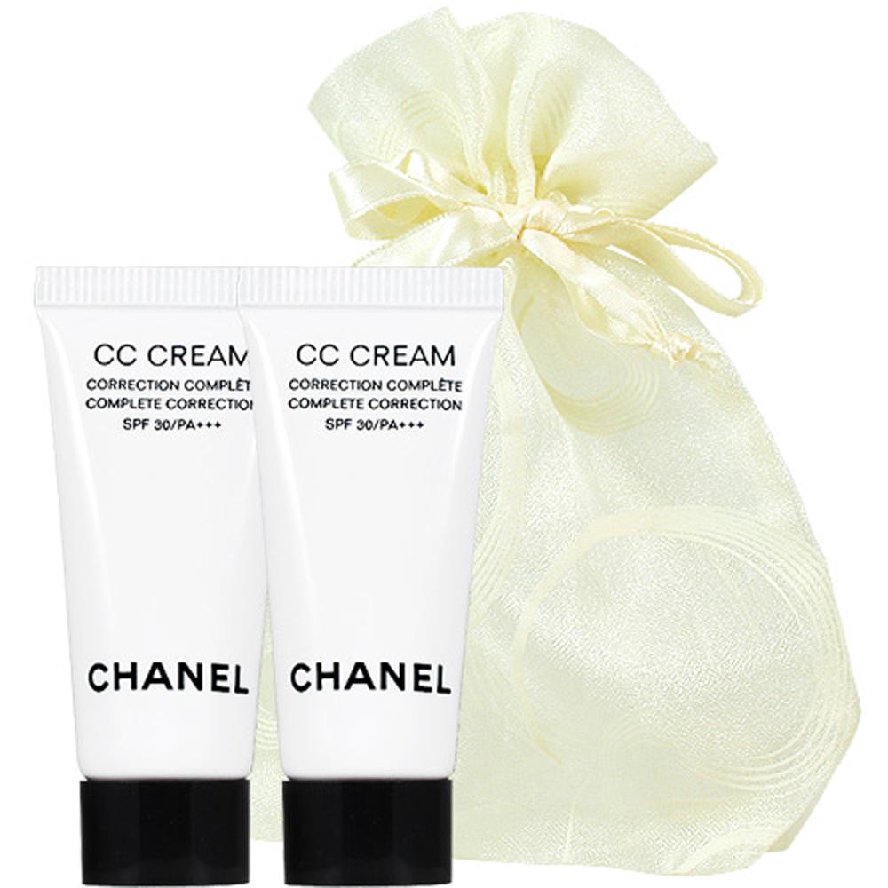 CHANEL 香奈兒 全效完美修飾CC霜(5ml)2入旅行袋組