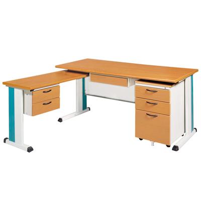 時尚屋木紋面辦公桌櫃組(100x150)