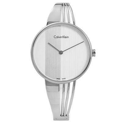 CK Drift 穿越藝術羅馬豎琴不鏽鋼女錶-白色/34mm