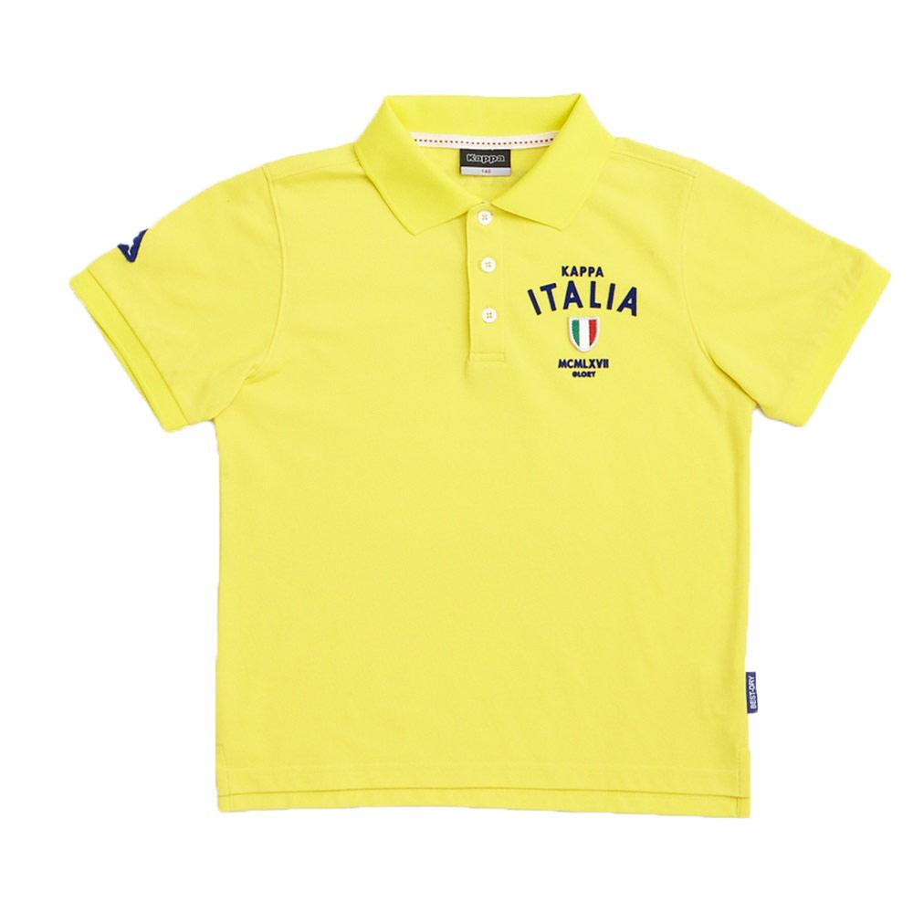 KAPPA義大利小朋友吸濕排汗速乾彩色POLO衫~清黃色