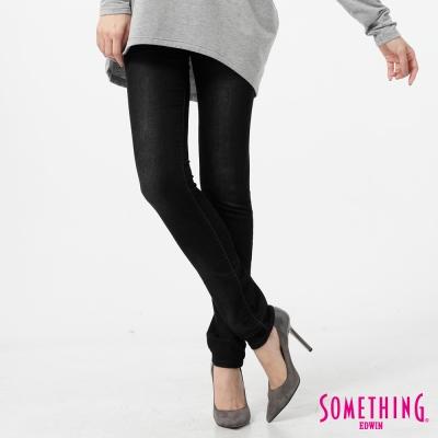 SOMETHING MEIDUSA 極簡窄直筒牛仔長褲-女-黑灰