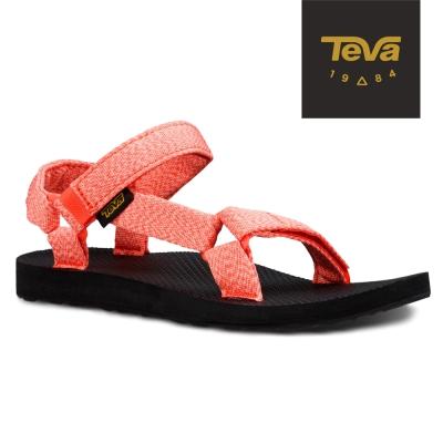 TEVA 美國-女 Original Universal 緹花織帶涼鞋 (花紗粉)