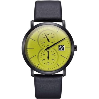 ZOOM Muse 繆思系列特殊讀時腕錶-綠/43mm