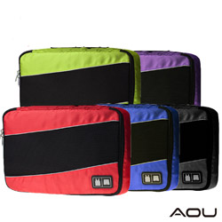 AOU 透氣輕量旅行配件 多功能萬用包 單層衣物收納袋(多色任選)66-035C