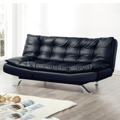 AS-邁林黑皮坐臥兩用沙發床-195x97x94cm